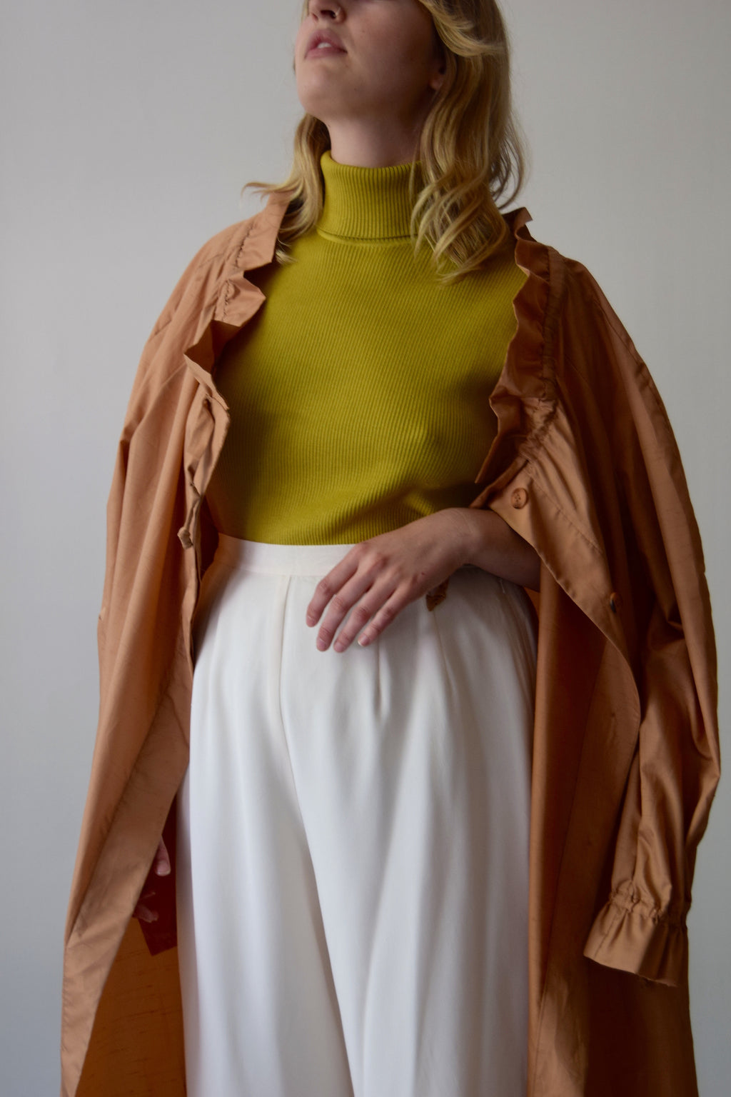 Vintage Betty Rose Amber Glow Trench Coat