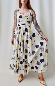 """The Very Thing!"" Neutral Halter Dress"