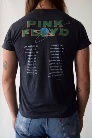 1987 Pink Floyd Tour T-Shirt FREE SHIPPING TO U.S.
