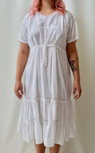 Sweet Eyelet Detail Dress