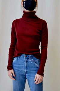 Plum Turtleneck Sweater