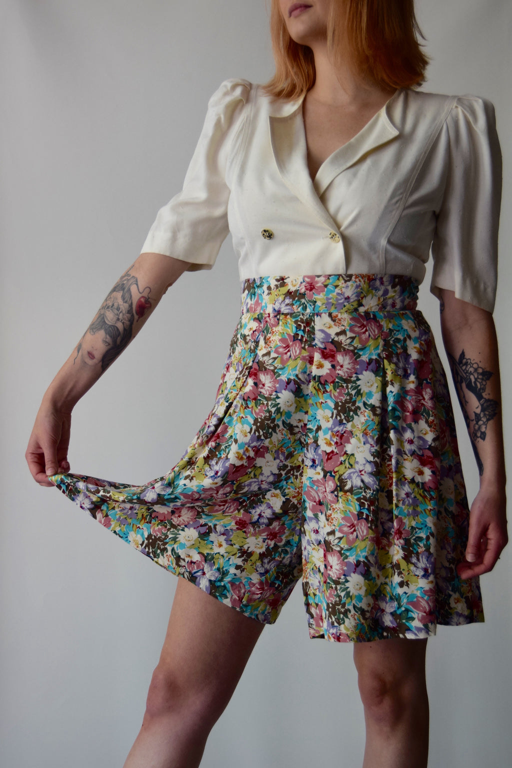 Wildflower Fancy Trouser Shorts FREE SHIPPING TO THE U.S.