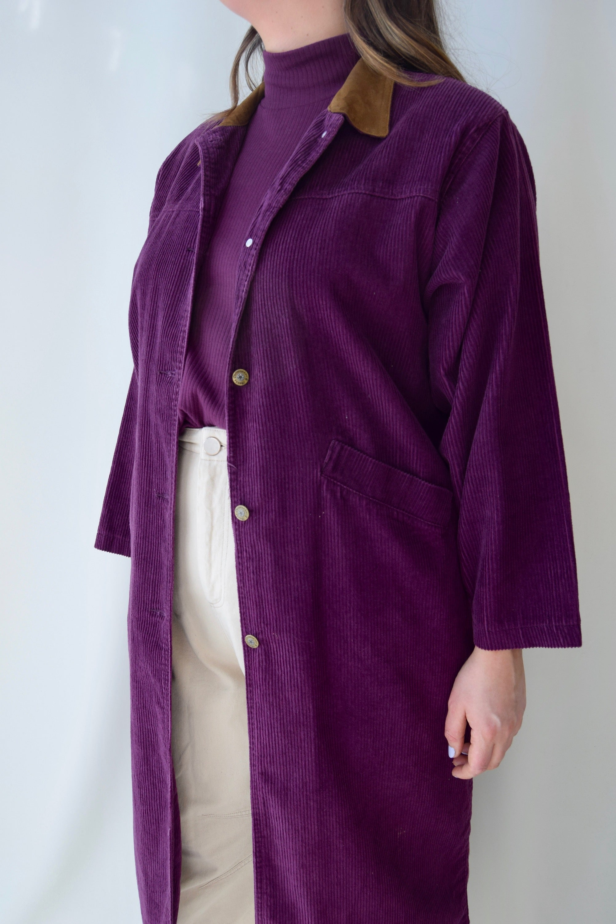 Mulberry Corduroy Trench