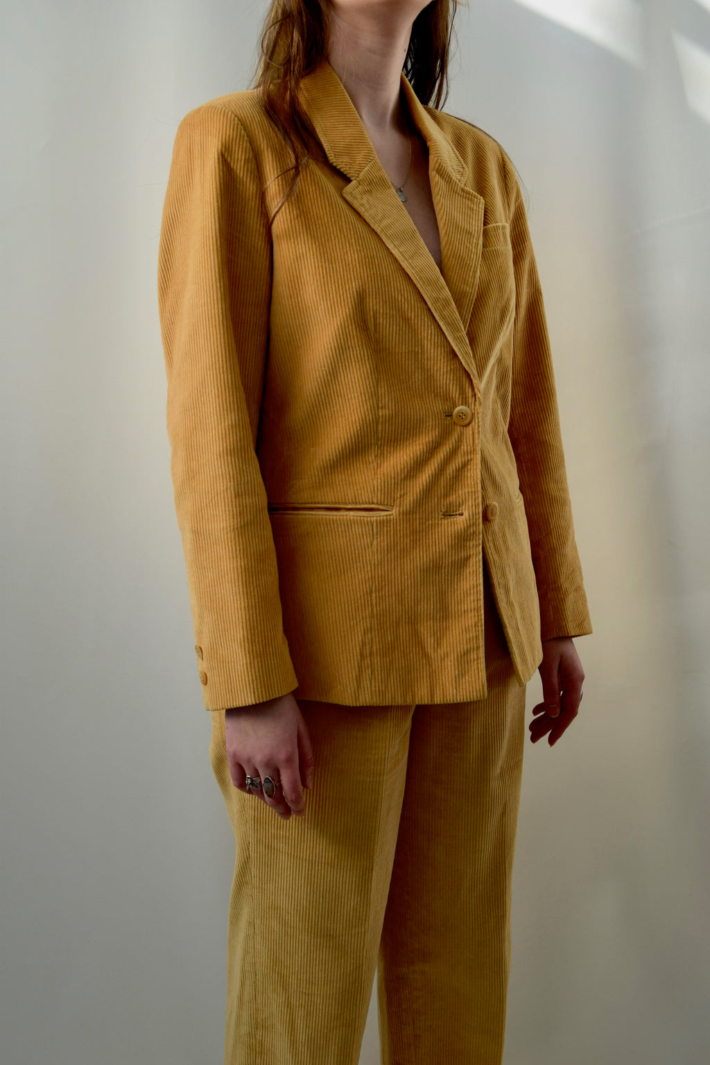 Golden Corduroy Suit