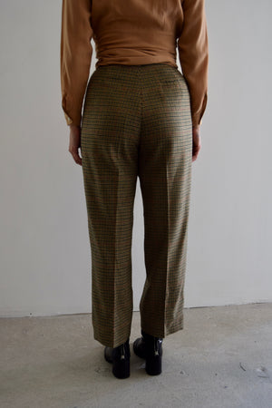 Vintage Calvin Klein Houndstooth Plaid Wool Trousers