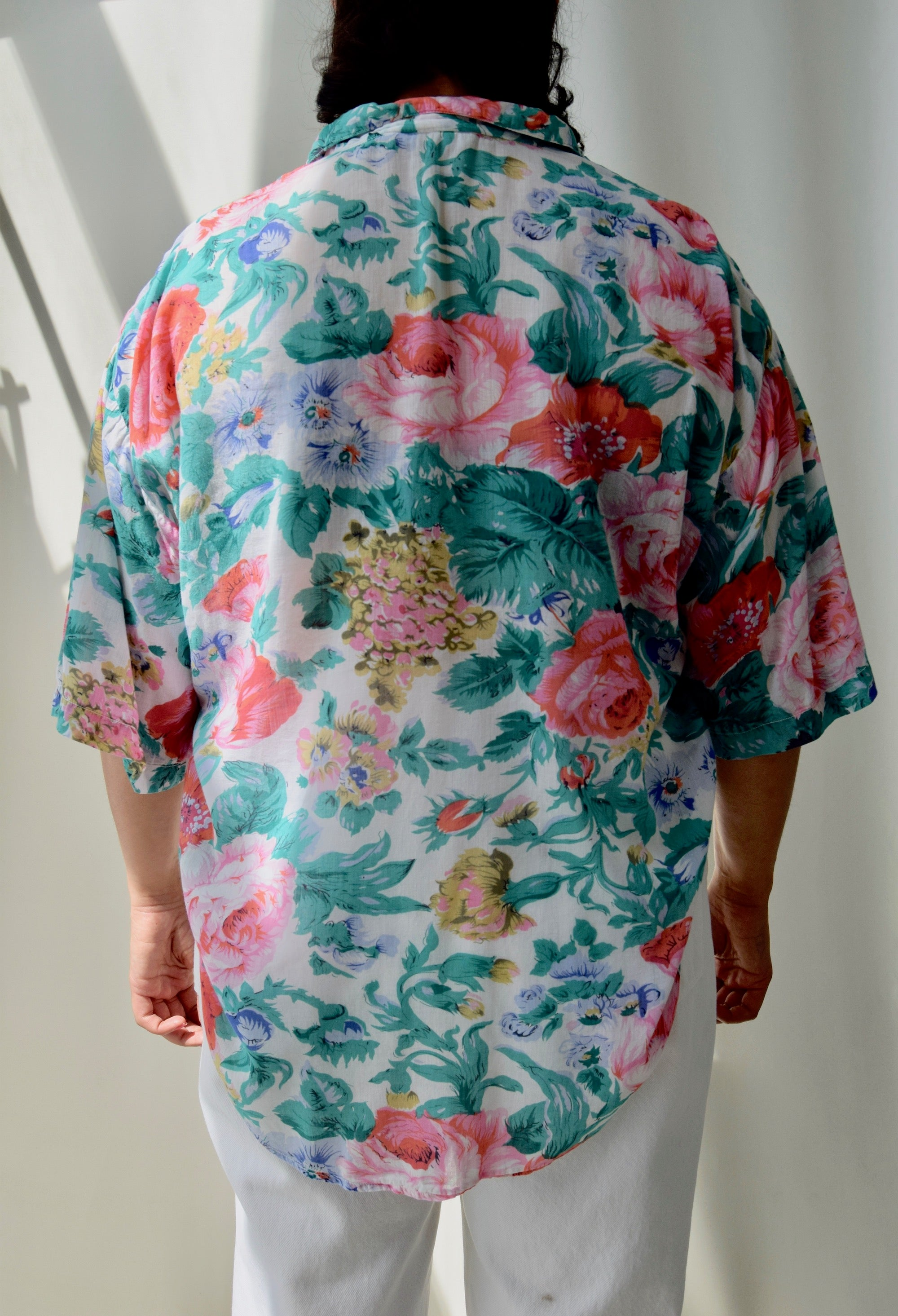 Sheer Gauze Floral Top