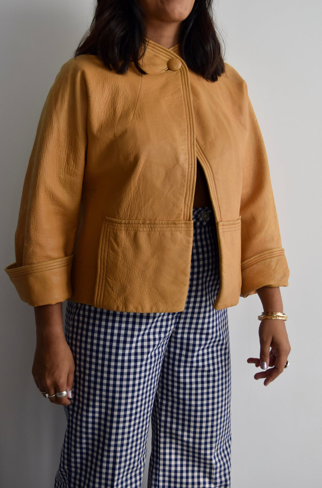 Vintage Buttery Fawn Leather Jacket