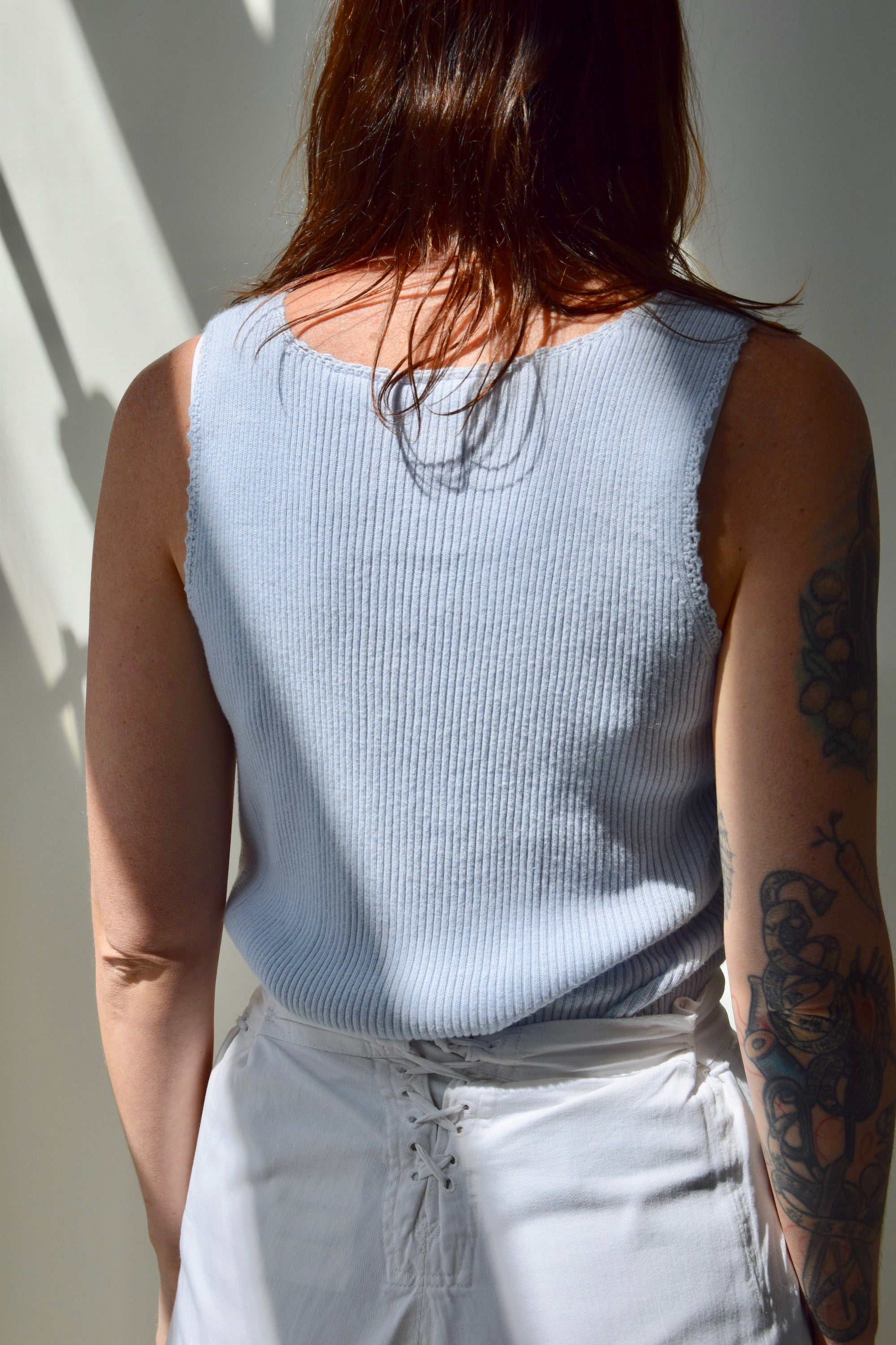 Powder Blue Knit Tank
