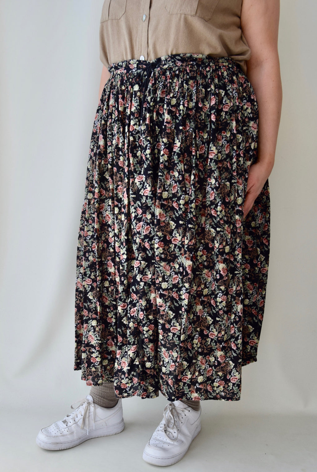 Floral Indian Gauze Cotton Skirt