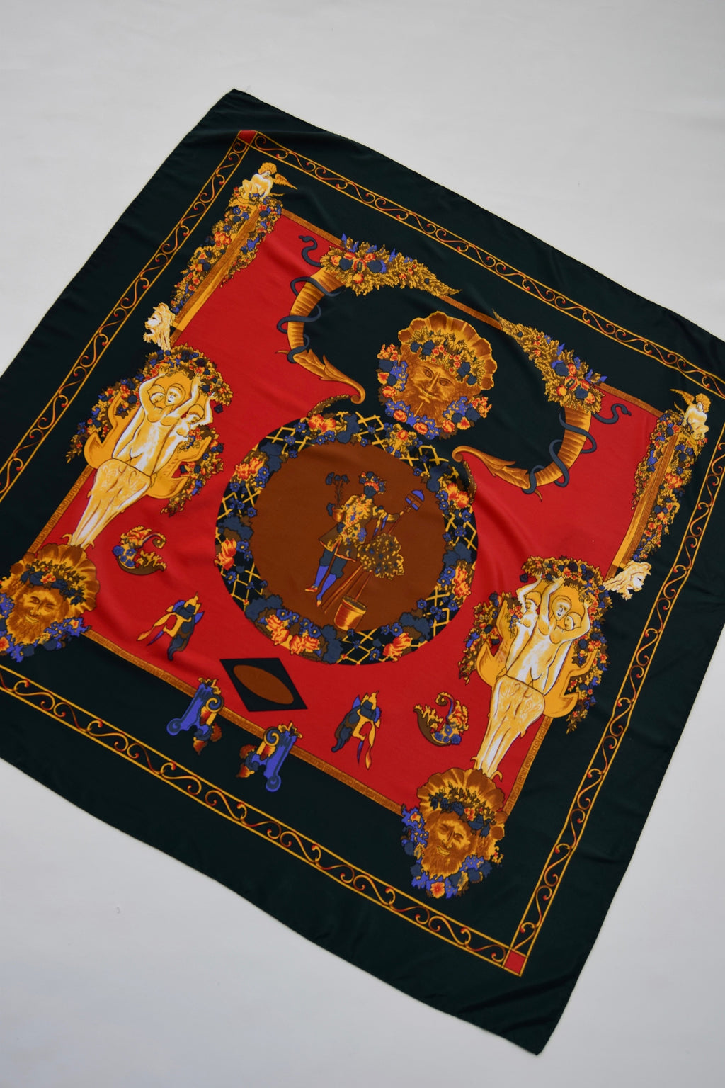Silk Regency Print Scarf FREE SHIPPING TO THE U.S.