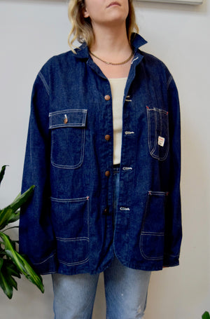 Vintage Big Mac Penneys Denim Chore Coat