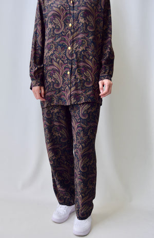 Paisley Silk Loungewear Set