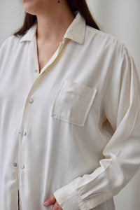 "1950's ""Lancer"" Cream Gabardine Men's Shirt"