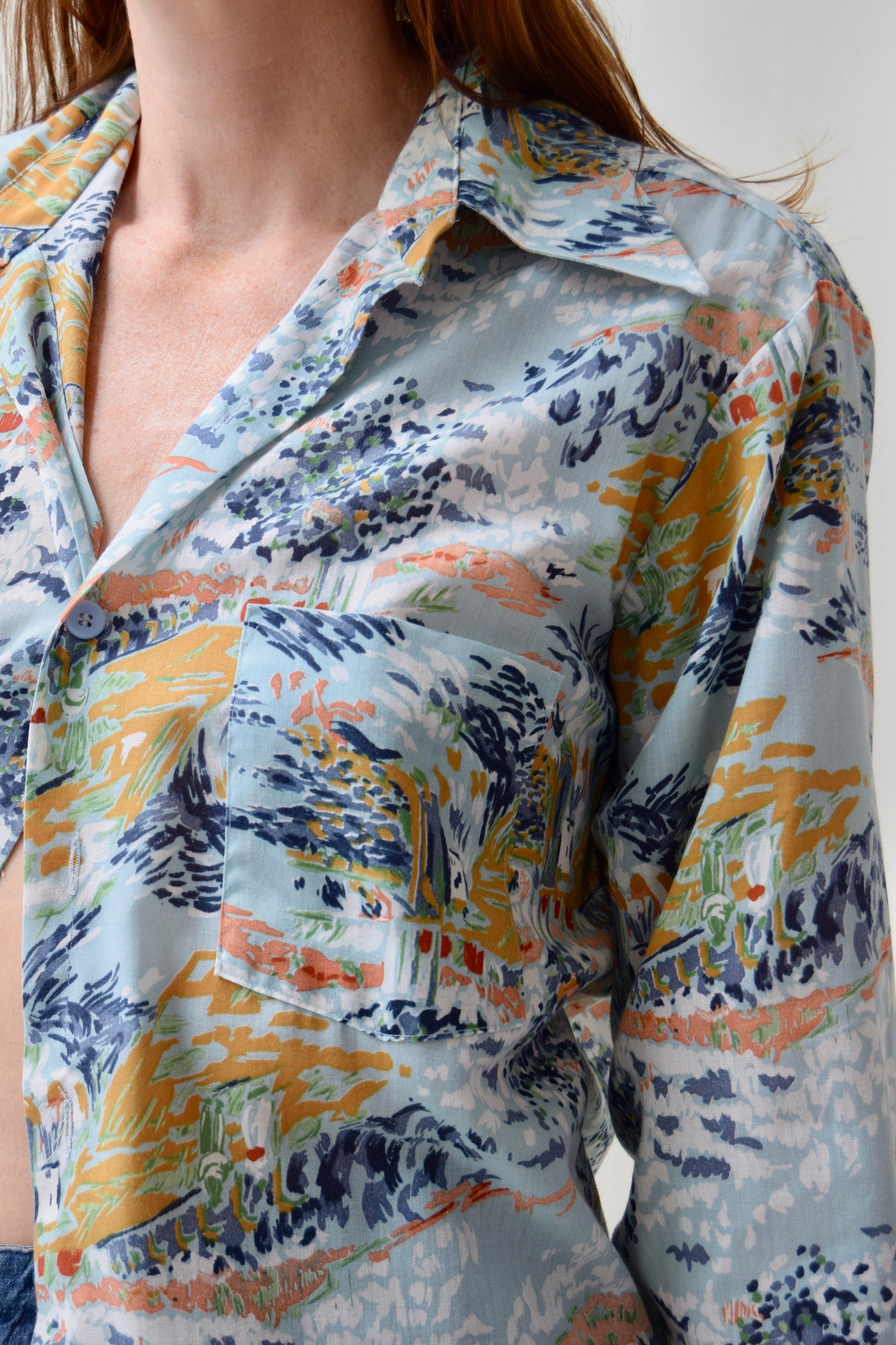1970's JC Penny Abstract Printed Shirt