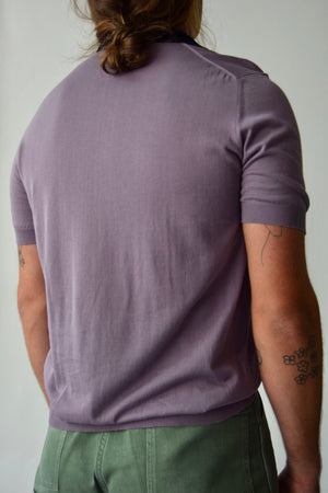 Men's Mauve Lanvin Short Sleeve Knit FREE SHIPPING TO THE U.S.