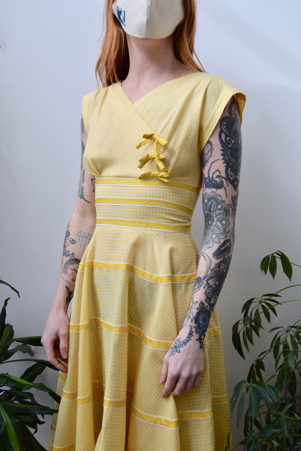 Sunshine Gingham Picnic Dress