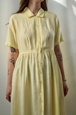 Lemon Drop Linen Market Dress