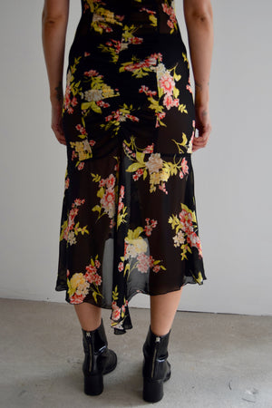 Sheer Floral Vintage Inspired Maggie Walt Dress