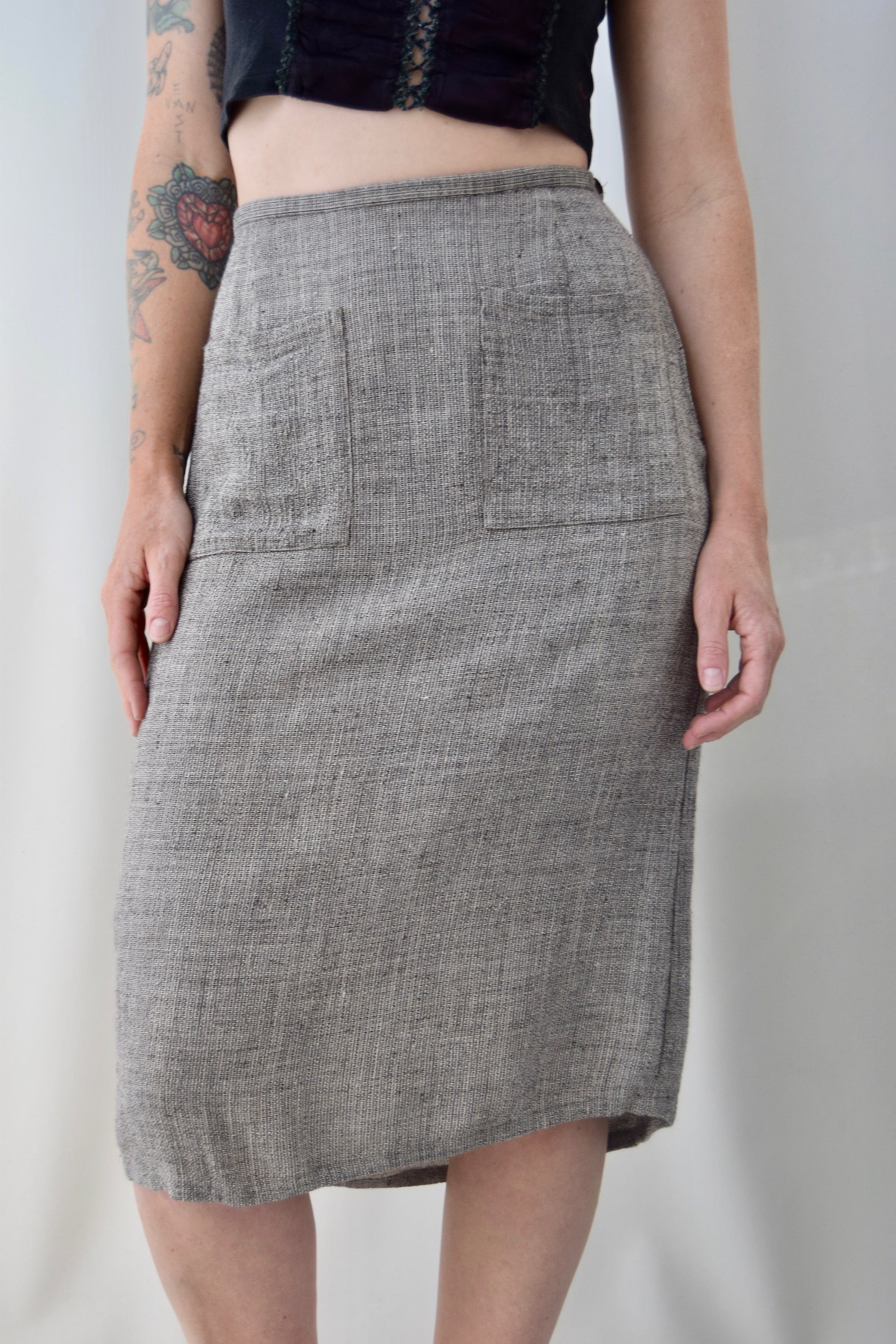 Eileen Fisher Linen Pencil Skirt