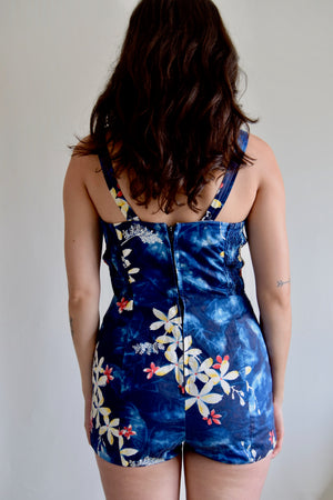 Vintage 1950's Hawaiian Ocean Playsuit FREE SHIPPING TO THE U.S.
