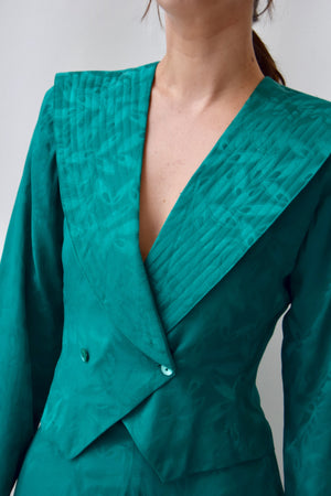 Emerald Green Silk Set
