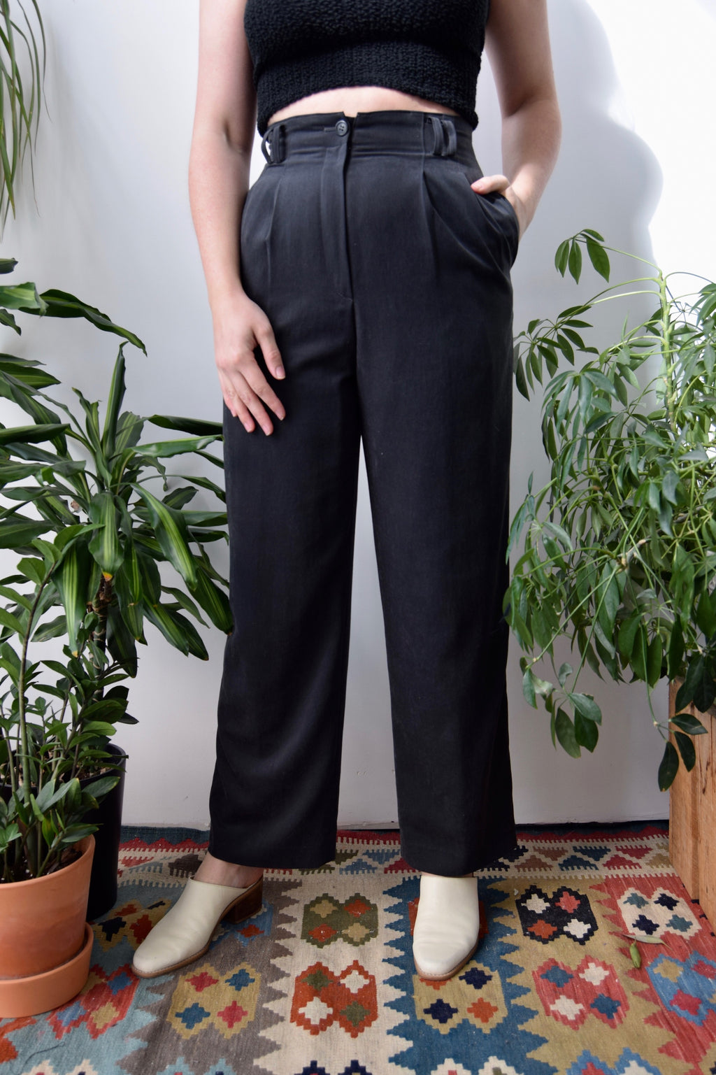 Ink High Waisted Trousers
