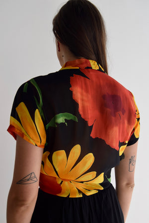 Poppy and Daisy Rayon Blouse FREE SHIPPING TO THE U.S.