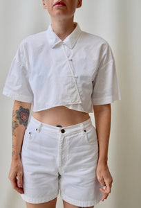 Tibi Asymmetrical Crop Top
