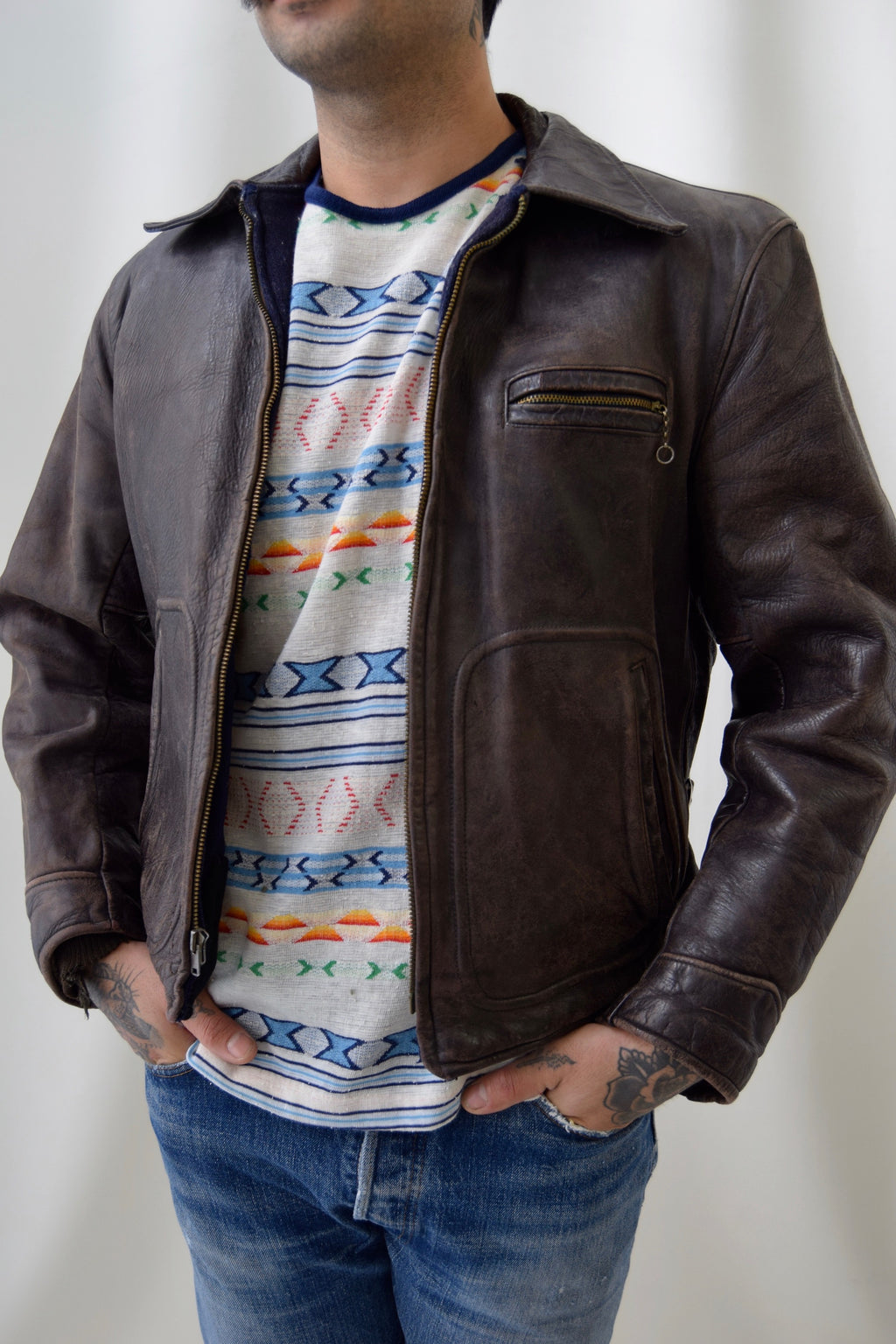 1940's United Sportswear Horsehide Leather Jacket