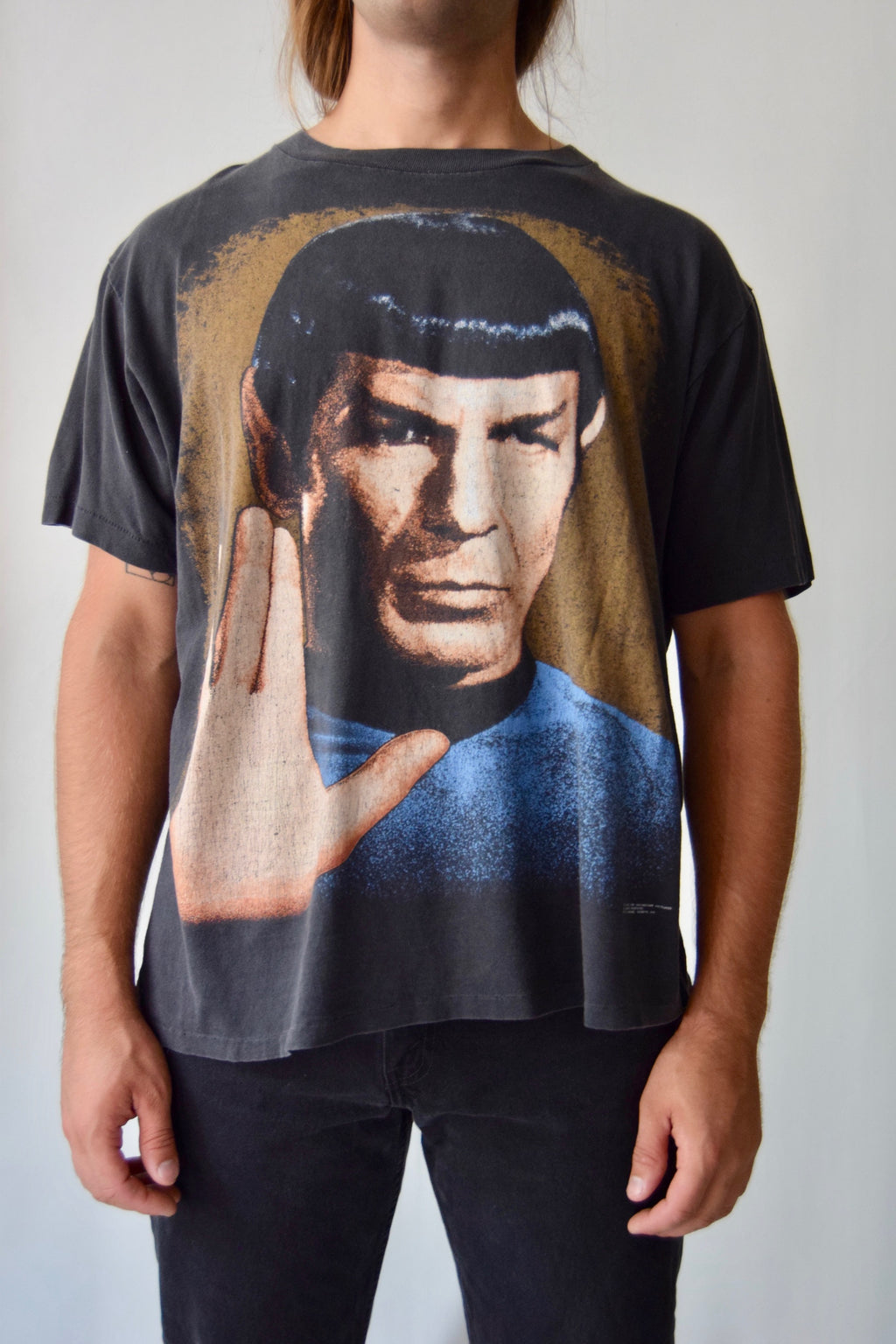 Vintage Spock Vulcan Salute 1991 T Shirt FREE SHIPPING