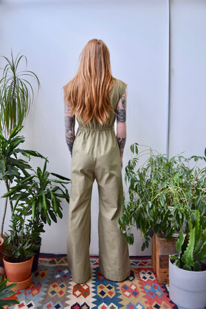 Seventies Khaki Rainbow Jumpsuit