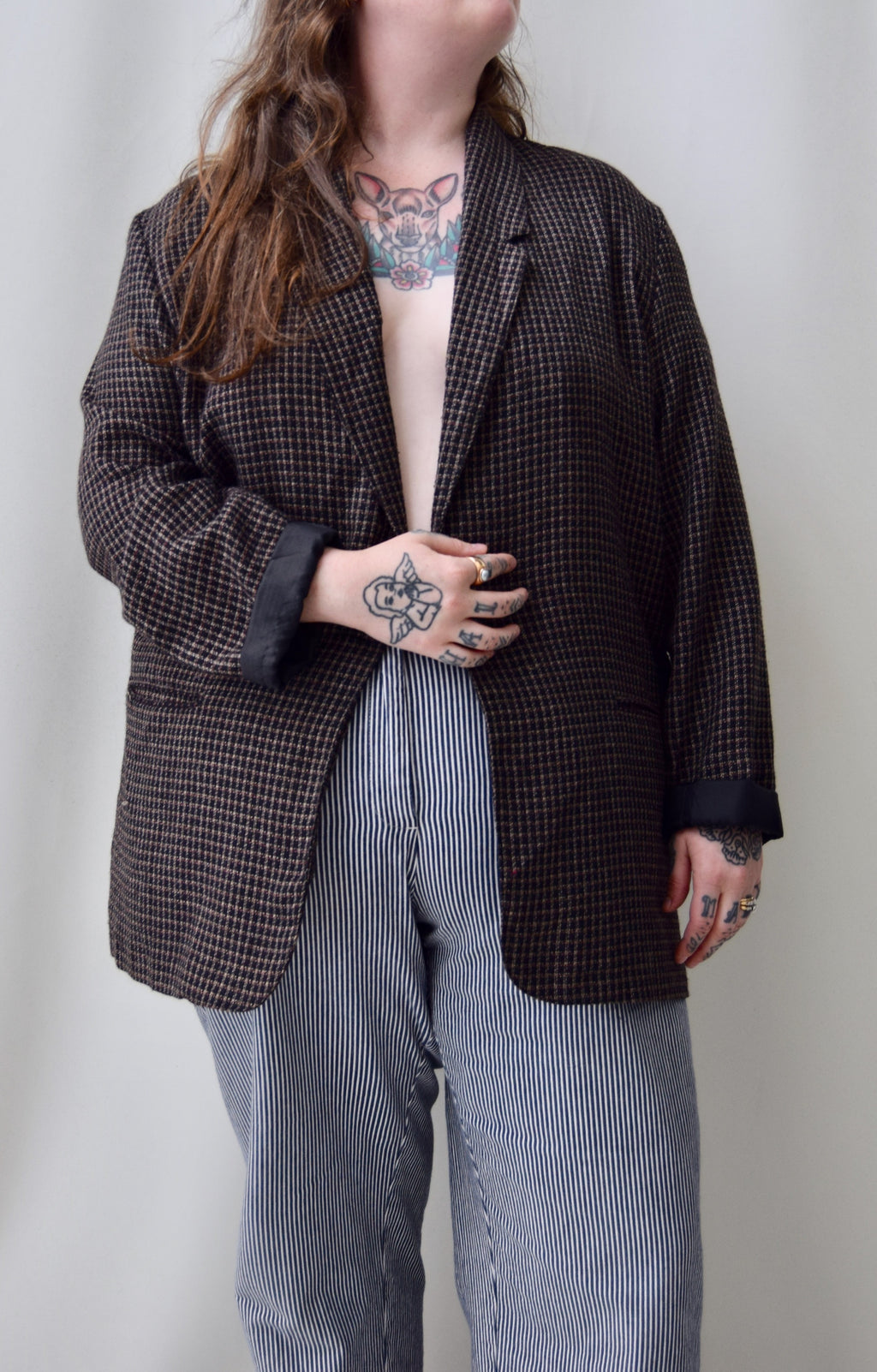 Checkered Plaid Blazer
