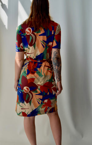 Late 70's Homemade Collared Vacation Dress