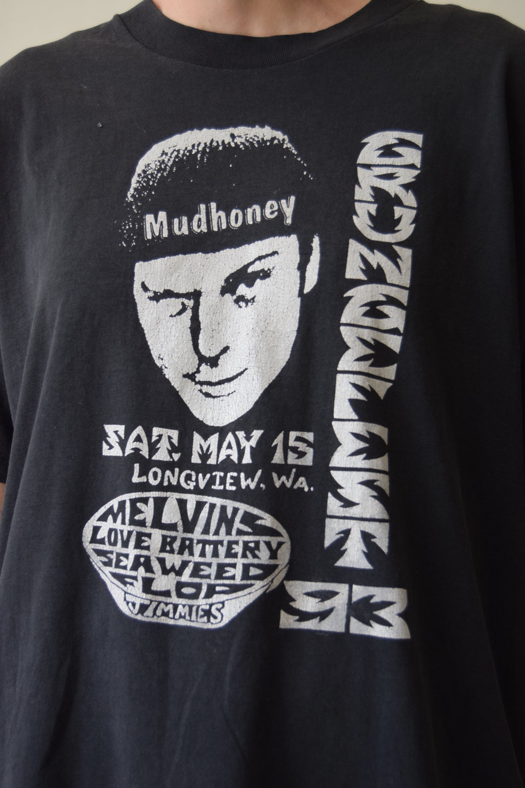 Vintage Mudhoney Melvins Grunge Fest 93 T Shirt FREE SHIPPING TO THE U.S.