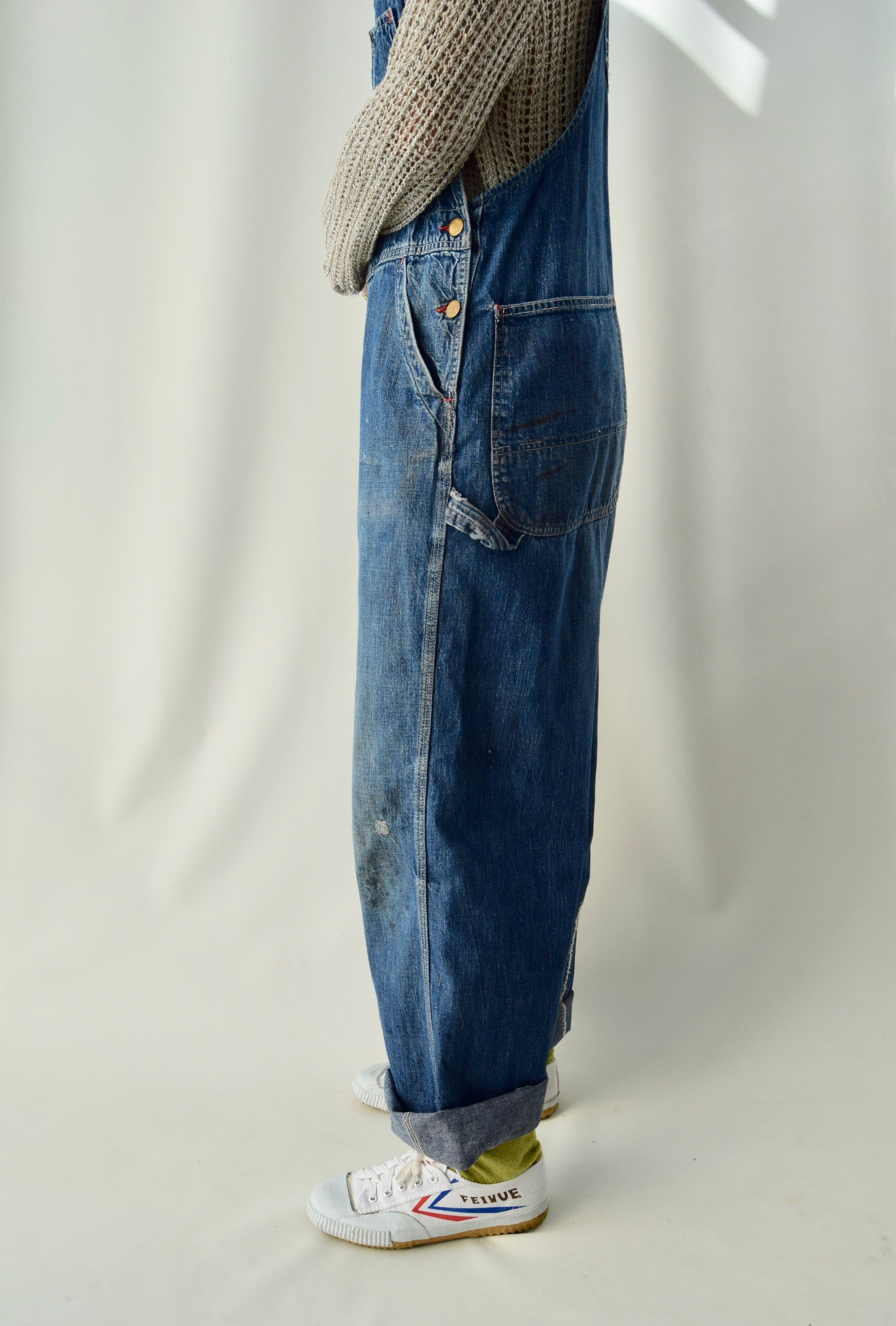 Vintage 1950's Black Bear Brand Denim Overalls