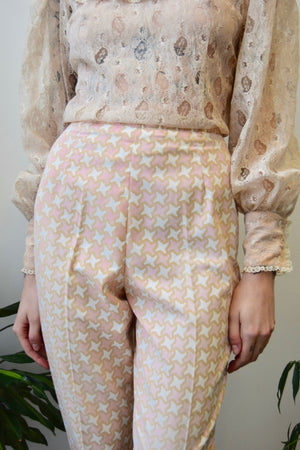 Sixties Pastel Cigarette Pants