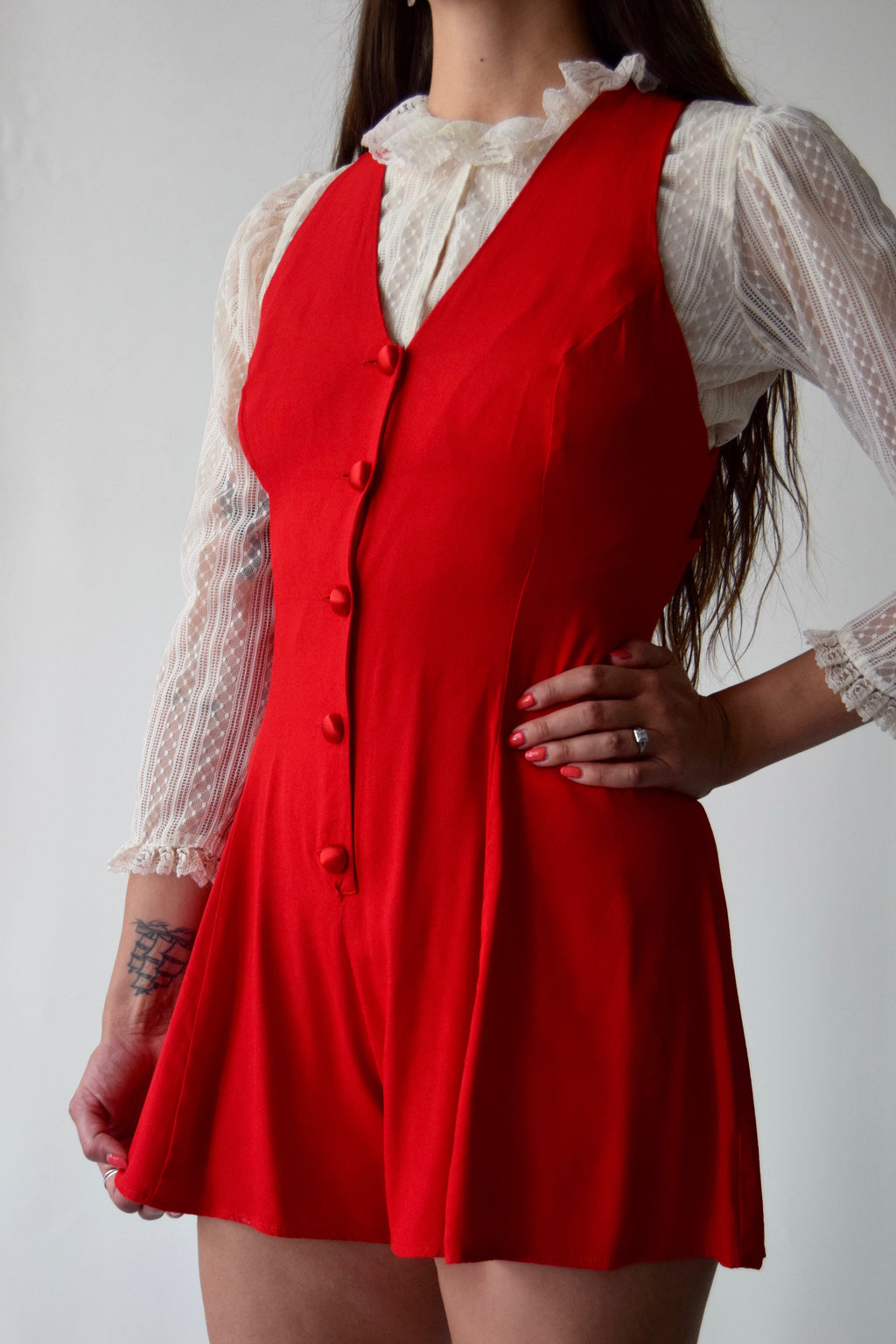 Scarlet Romper FREE SHIPPING TO THE U.S.