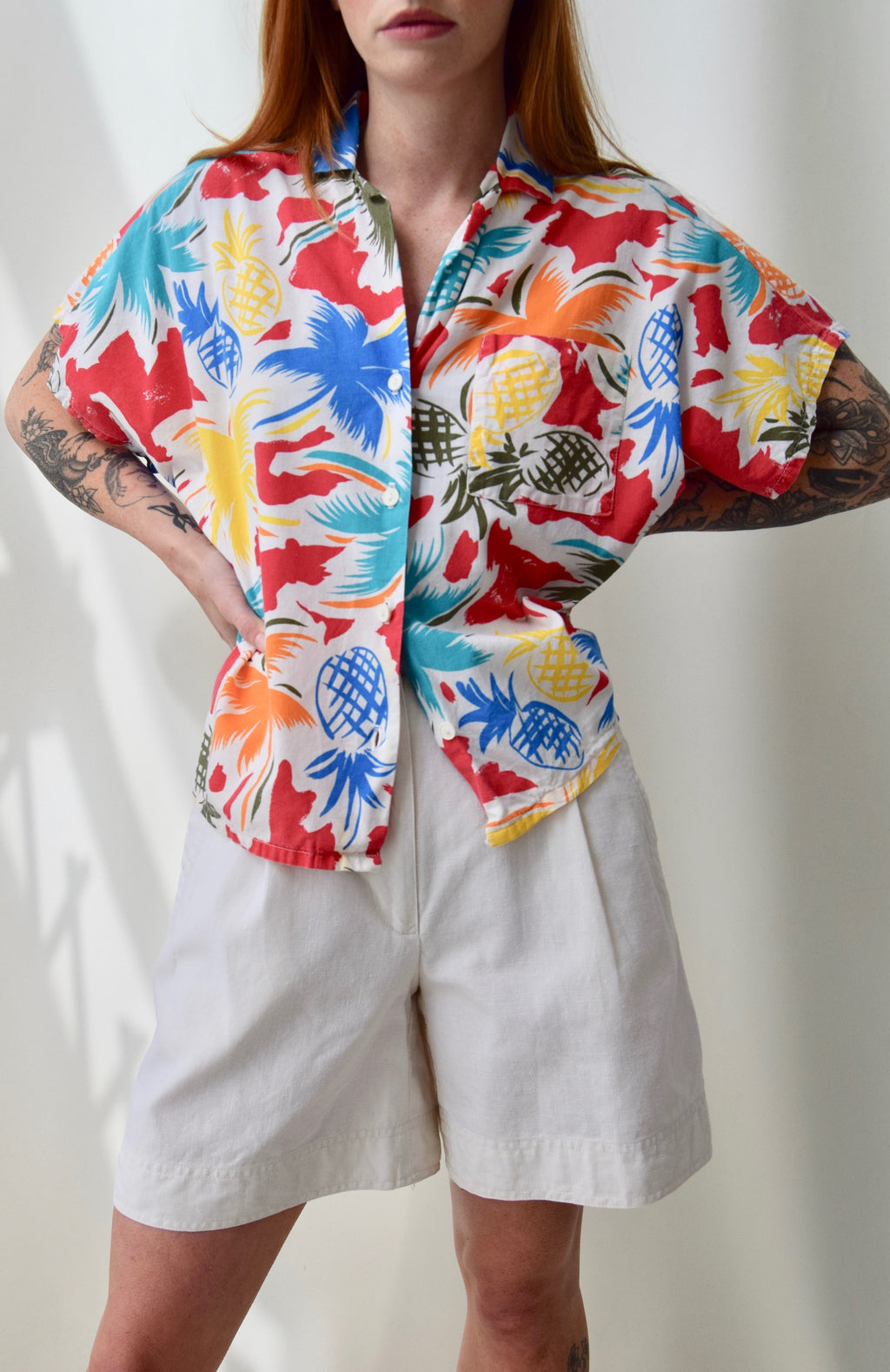 """Lady Holiday"" Tropical Top"