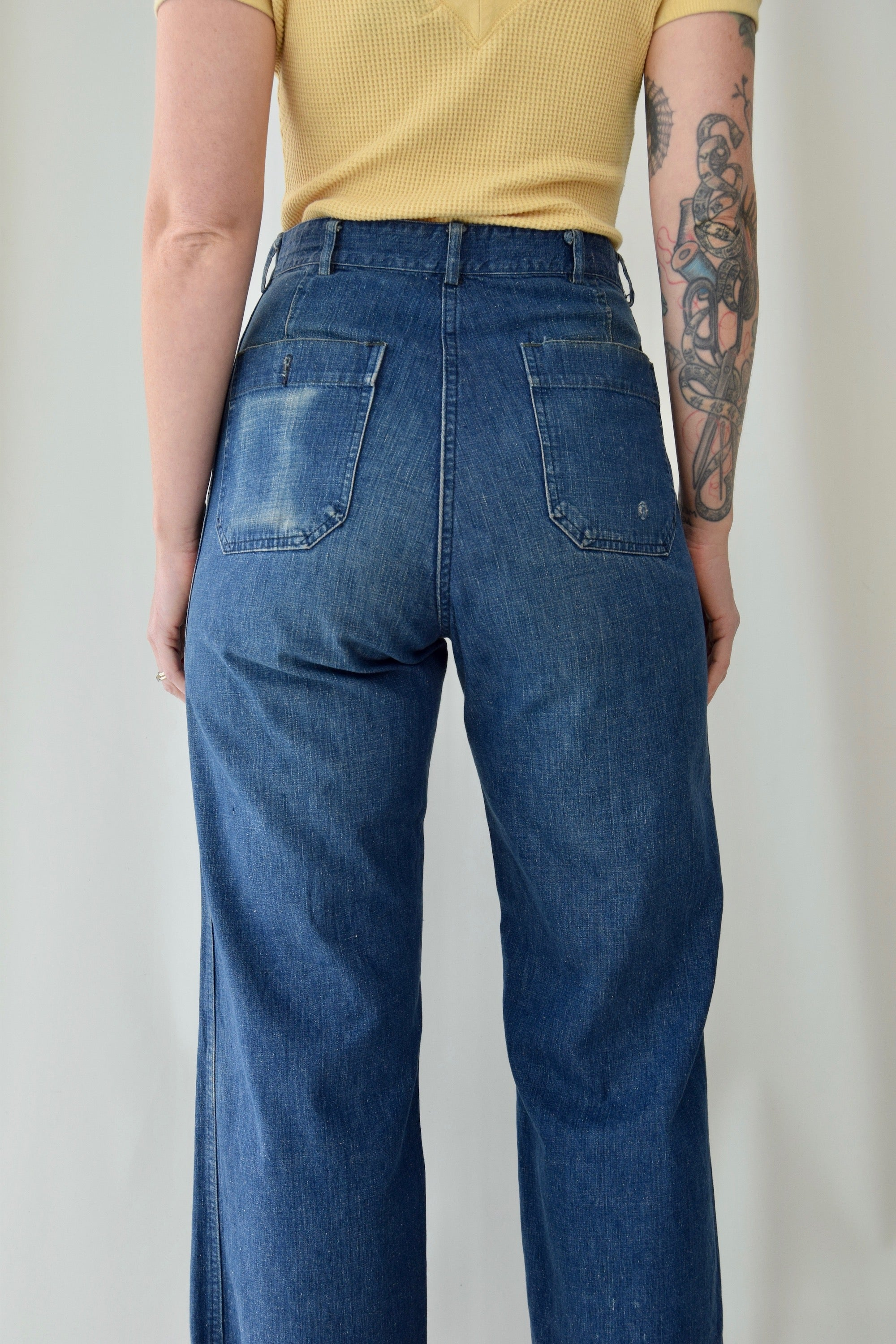 1940's USN Denim Button Fly Dungarees