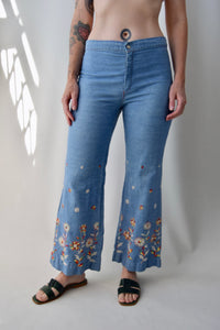 1970's Embroidered Flares