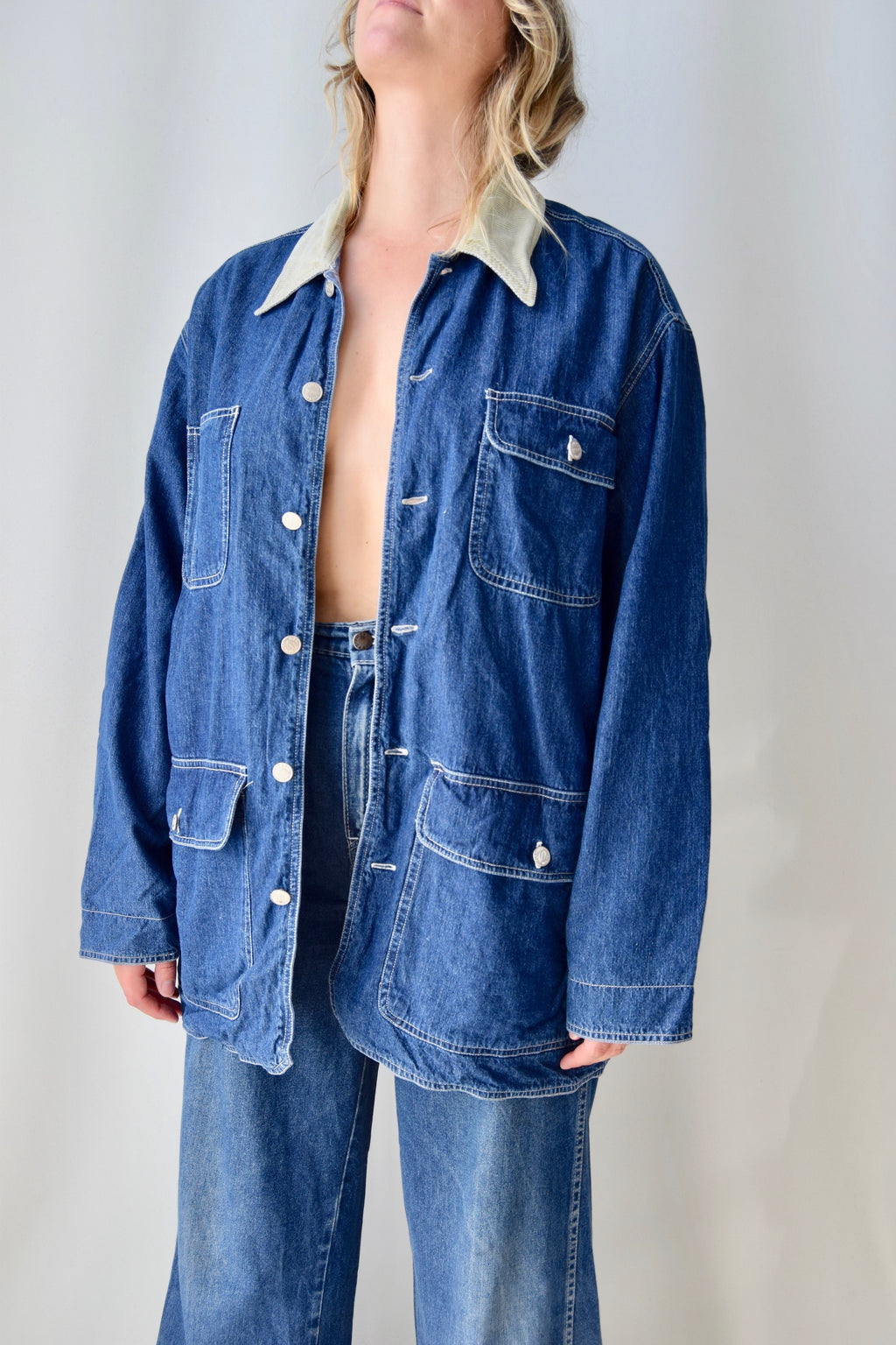 90's Denim Chore Coat