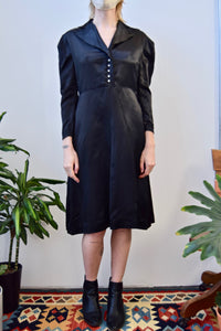 1940's Satin Puff Sleeve Dress