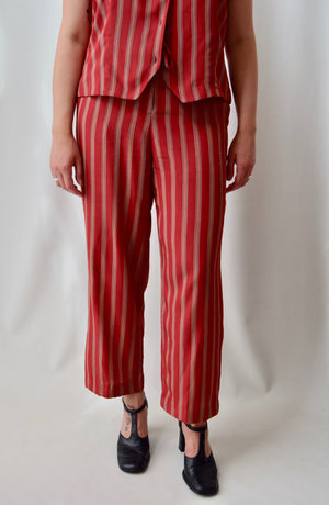 Silk Striped Two Piece