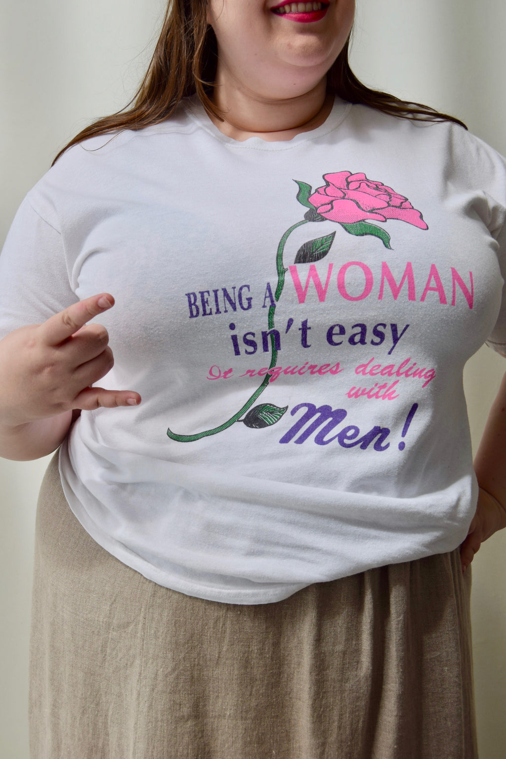 """Being A Woman Isn't Easy"" Tee"