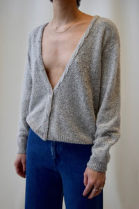 Pebbled Grey Silk Blend Knit FREE SHIPPING TO THE U.S.