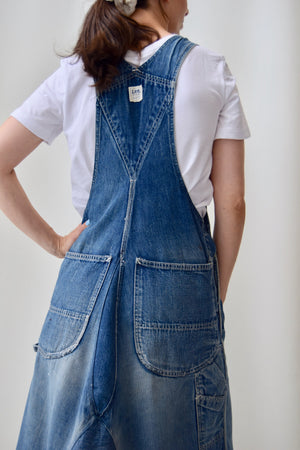 Vintage Re-Worked Lee Jelt Denim Overalls Dress