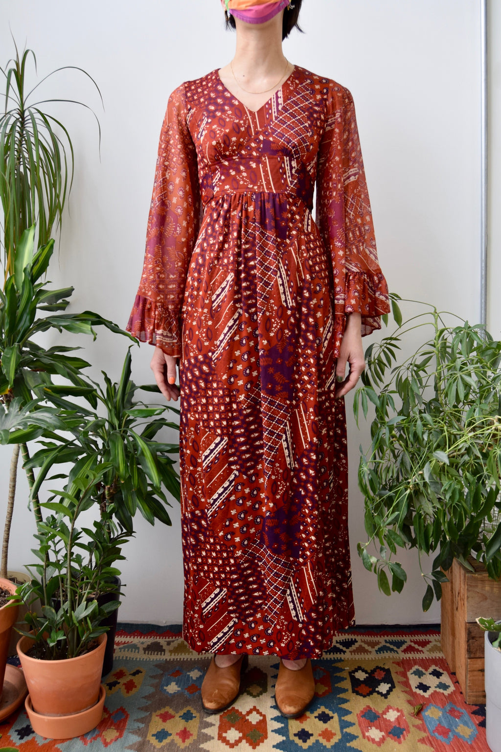 Seventies Sienna Bell Sleeve Dress
