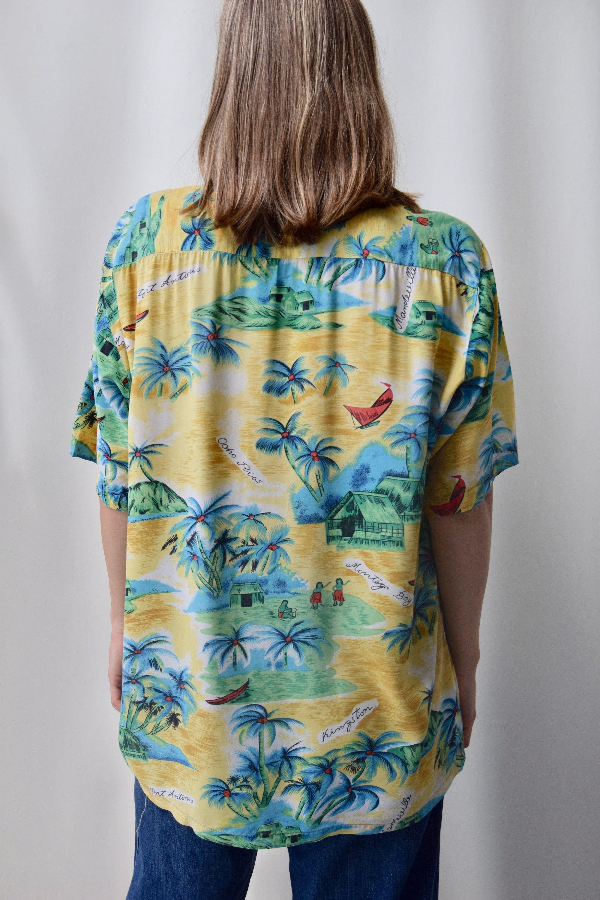 60's Men's Rayon Hawaiian Button Up