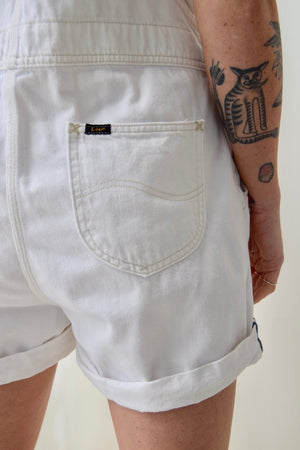 Vintage White Lee Shorteralls