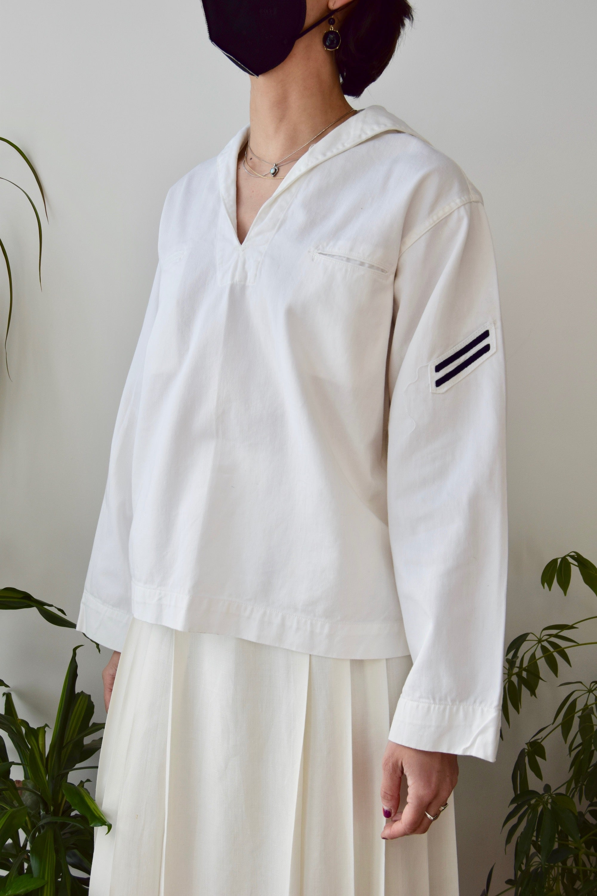 Vintage Sailor Pullover Uniform Shirt